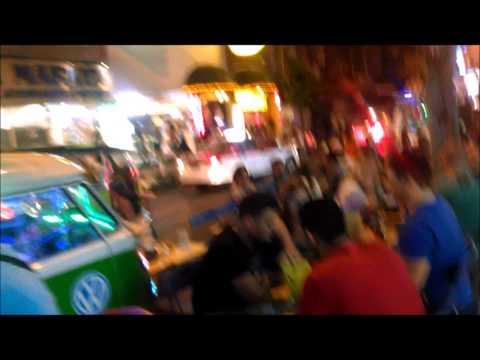 Tourists Enjoying Dining and Eating Late Night on Soi 11, Bangkok