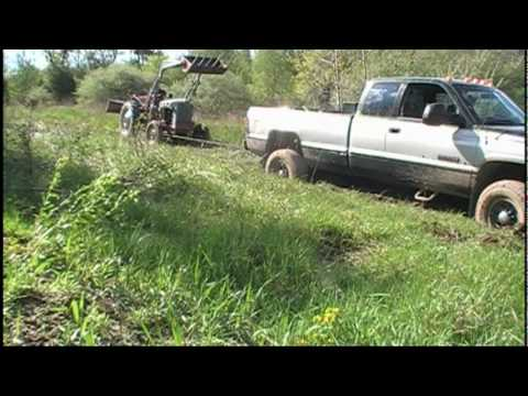Recovering the Stuck Dodge Ram with the 53 Ford Jubilee Tractor