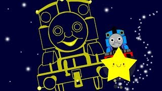 Twinkle Twinkle Little Star with Thomas the Train | Children Nursery Rhyme | Babies Lullaby