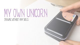 Watercolor painting without ANY drawing skills: how to make your own unicorn