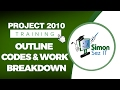Microsoft Project 2010 Video Training Tutorial - Outline Codes and Work Breakdown Structure