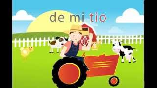 🐷 🐥 🐶 Granja de mi Tio - Spanish Songs for kids with lyrics Canciones español niños Miss Rosi