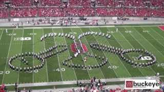 "Ohio State Marching Band ""Country And Western"" Themed Halftime Show vs Wisconsin: 9-28-13"