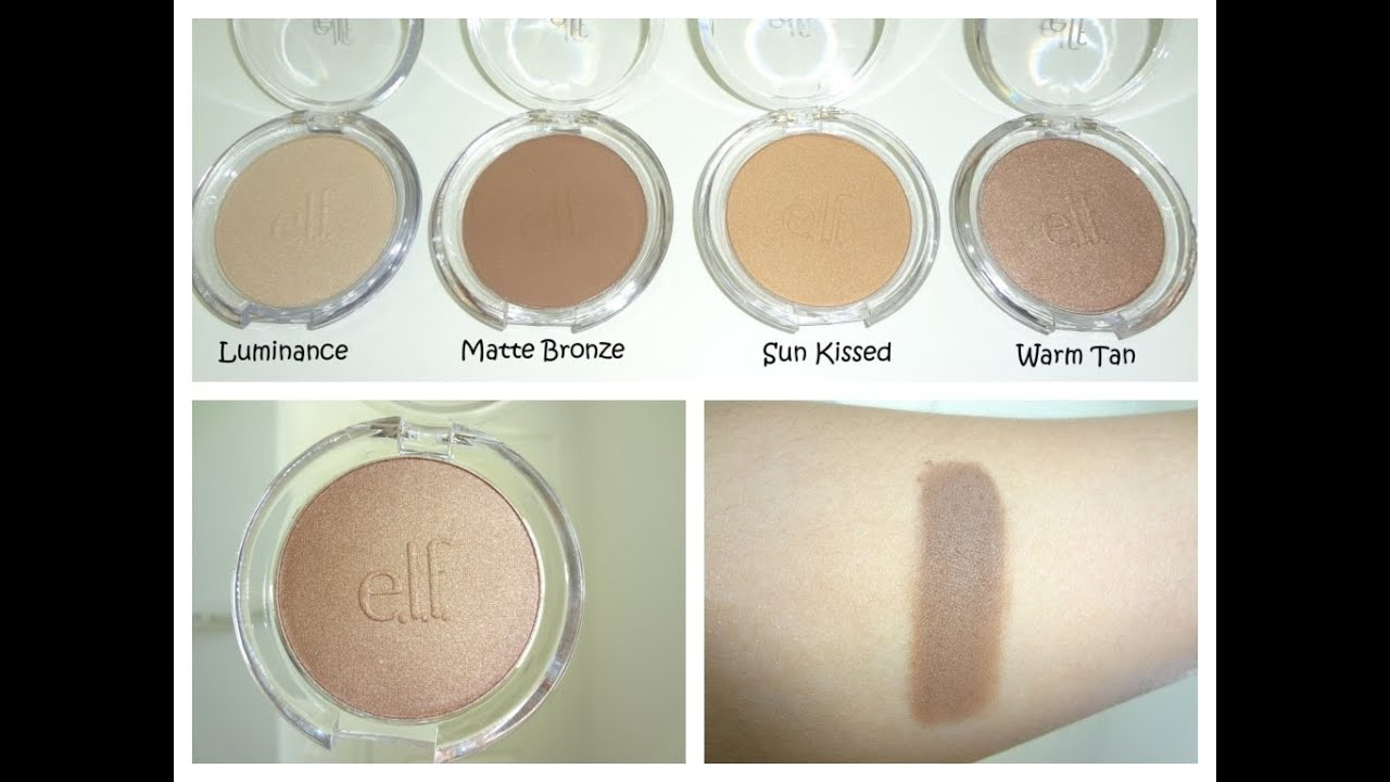 ELF Healthy Glow Bronzer in Sun Kissed: Swatches & Review