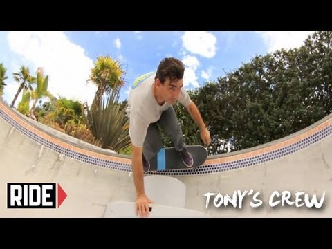 Tony Hawk, Riley Hawk & the FLIP Team Skate Tony's Backyard Park - Tony's Crew