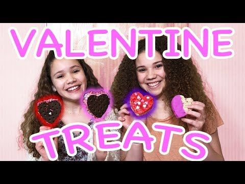 DIY Valentine's Day Heart Treats! (Haschak Sisters)