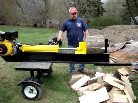 DIESEL LOG SPLITTER. HOMEMADE FOR SALE