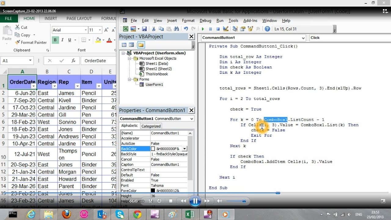 Excel vba combobox как заполнить - e2e