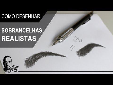 Como desenhar sobrancelhas realistas - Charles Laveso