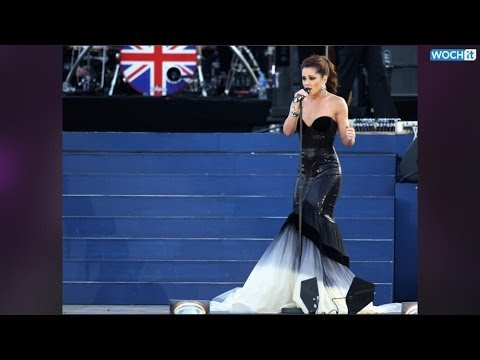 Cheryl Cole Risks A Nip Slip In Dangerously Low Dress