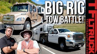 2020 Freightliner Luxury Hauler vs GMC Dually vs World's Toughest Towing Test | Ike Gauntlet