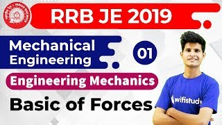 9:00 PM - RRB JE 2019 | Mechanical Engg by Neeraj Sir | Engineering Mechanics | Basic of Forces
