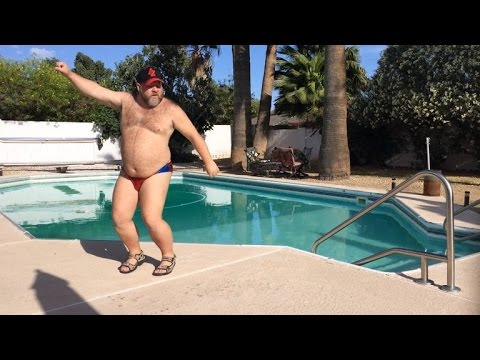 Watching This Guy Dancing In a Speedo Poolside Will Make You Smile thumbnail