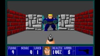 Wolfenstein 3D 1992 \ Xbox One X 2017 Gameplay