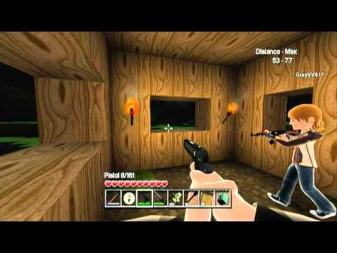 Castle Miner Z (Minecraft with Guns) Update 1.3- DOORS!! (xbox indie game)