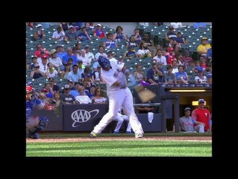 Jesus Aguilar Home Run Swing Slow Motion 2018-413