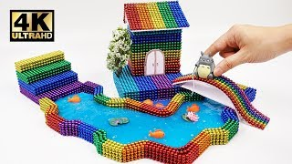 DIY - How To Make Rainbow House, Totoro Sitting by the River with Magnetic balls, Slime