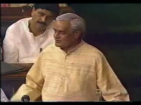 Atal Bihari Vajpayee Speech : I Am Not Afraid Of Death video