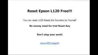 Resetter Epson L120 Free - You can do it Youself now!