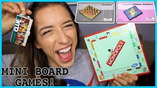 Playing With Mini Board Games!
