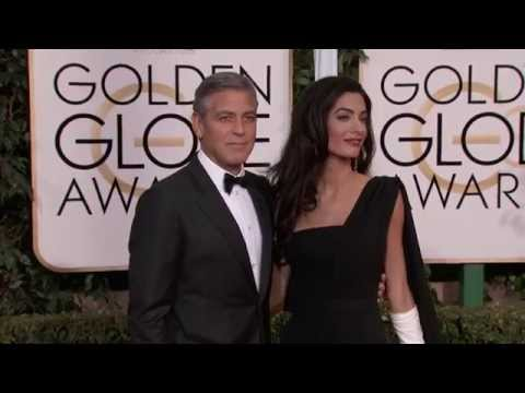 Golden Globes 2015: George Clooney and Amal Alamuddin Red Carpet