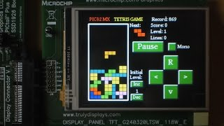 PIC32 Tetris Game and Graphic Display 240x320 TouchScreen