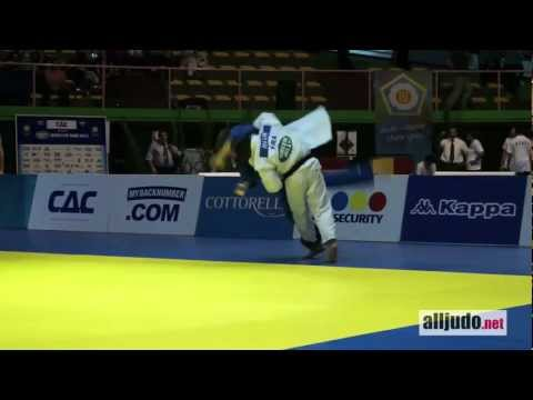World Cup Rome 2012 : Dragin (GRA) - Le Blouch (FRA) - TOP IPPON - sasae-tsuri-komi-goshi Image 1