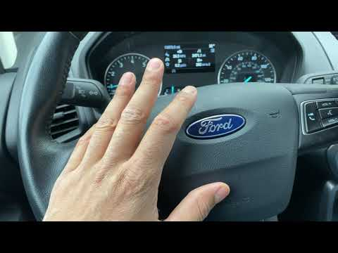 FORD ECOSPORT - Traction control button location