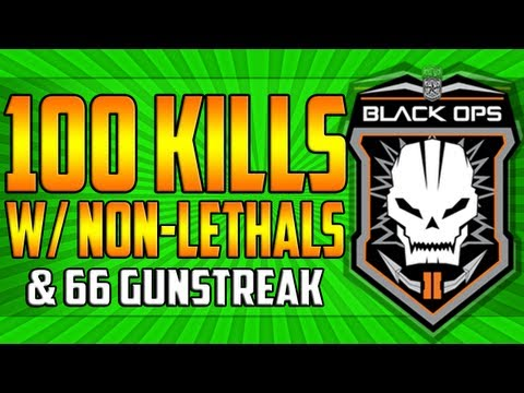 Black Ops 2 - *LIVE* 100 Kills w/ Non-lethals, 66 Gunstreak & 2 Quadfeeds!