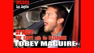 Tobey Maguire Flips Out on Paparazzi H2334 STARS ATTACK!