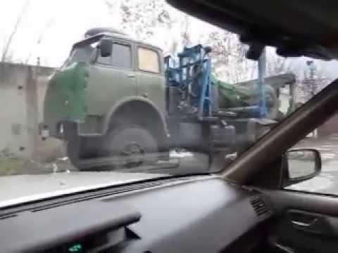 ЛЕСОВОЗ МАЗ 509А и НИССАН ЦЕДРИК    MAZ 509A end NISSAN CEDRIC