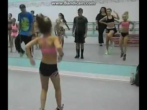 Maddie was probably like 7 here! She's so cute.. Paige idk if you can see is in the mirror. SUB FOR MORE VIDS. xo, DANCECHEER03.
