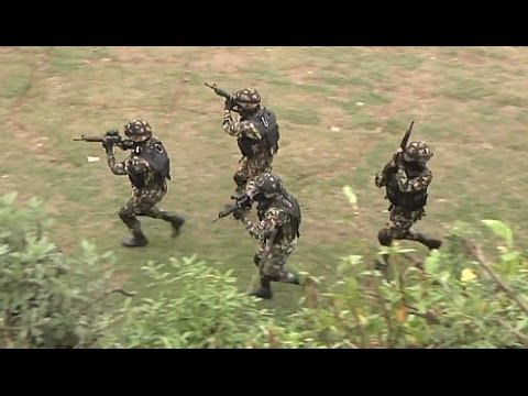 NEPAL! Nepalese Army Rangers Demonstrate Combat Search and ...