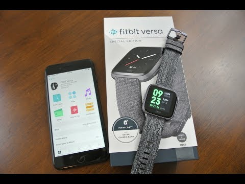 NEW Fitbit Versa Smartwatch Unboxing and Full Setup!