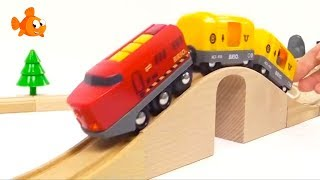 BRIO Toys Kid's Mega Choo-Choo Trains & Toy Cars Videos for kids Toy Trains COMPILATION