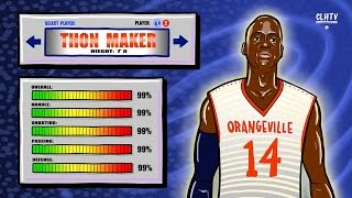 Thon Maker is a VIDEO GAME - 7 Footer with GUARD SKILLS - Thon Maker DemiGod 2K15 Created Player