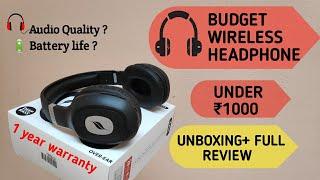 Best Budget Wireless Headphones under ₹1000| Unboxing+Full Review