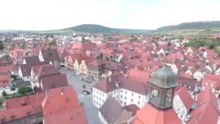Weißenburg In Bay. Altstadt Am Abend  (DJI Phantom 4) Luftaufnahme