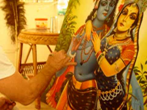 Gadadhar Pran Das. Radha And Krishna Lilas Painter. Mayapur. India. video