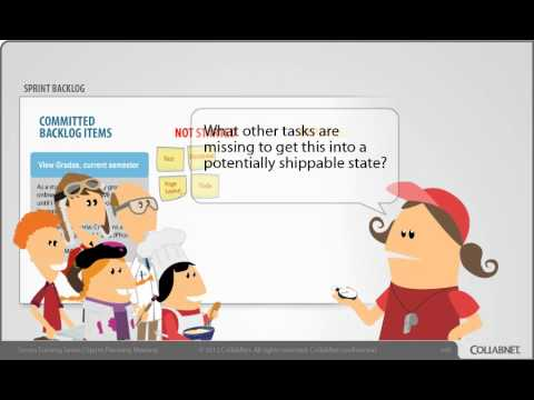 Sprint Planning Meeting - CollabNet Scrum Training Part 3