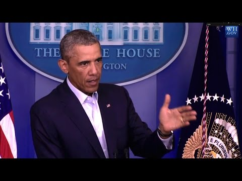 Obama Discusses Ferguson Protests and Iraq