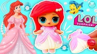 Ariel LITTLE MERMAID LOL Surprise doll 💕 DIY | Custom Disney Princess Lol Doll