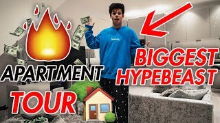 UK's BIGGEST HYPEBEAST - NEW APARTMENT TOUR (INSANE!)