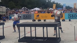 MATEUSZ KIELISZKOWSKI BEATS HAFTHOR THE MOUNTAIN IN LOADING RACE @ FINALS WORLD'S STRONGEST MAN 2019