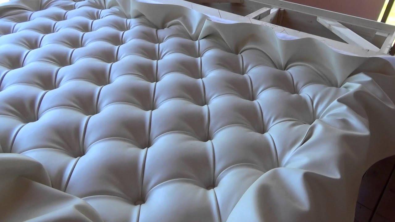 Как сделать изголовье кровати каретной стяжкой 77
