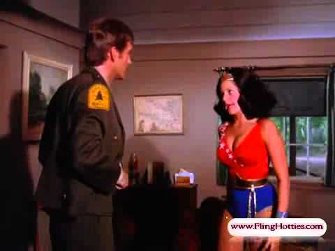 Wonder Girl (Debra Winger) spin change costume & sexy chloroform KO - 720p