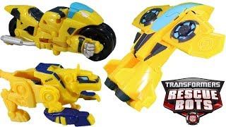 Transformers Rescue Bots Bumblebee Race Car, Motorcycle, Dinobot & Jet Plane Modes! So many Modes!