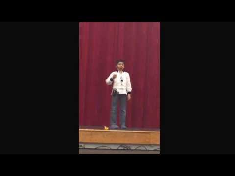 Advait Maheshwari Reciting Hindi Poem During Hindi Usa Poem Competition In Stamford, Ct On 1 17 2014 video