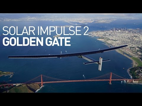Solar Impulse 2 flyover Golden Gate - San Francisco
