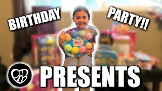 OPENING PRESENTS at her 8th BIRTHDAY PARTY with Family and Friends | PHILLIPS FamBam Vlogs